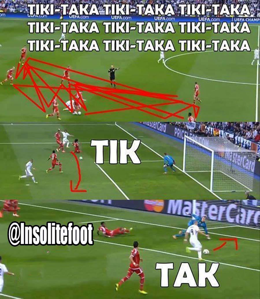 "Real Madrid-Bayern : Le ""TIKI-TAKA"" VS  le ""TIK-TAK """