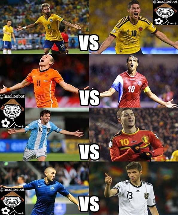 Les quarts de finale de la coupe du monde 2014 - Quart de finale coupe du monde 2015 ...