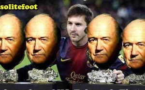 Quand Messi pose avec ses quatre Baltter d'Or !!!