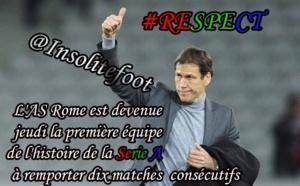 L'AS Rome est devenue la première équipe de l'histoire de la Serie A à remporter dix matches consécutifs !!!