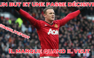 Manchester United : Rooney marque quand il veut !!!