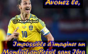 Impossible d'imaginer un Mondial au Brésil sans Ibra !!!