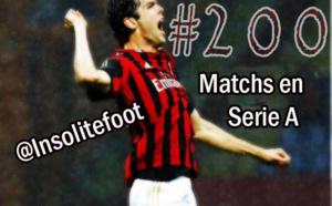 Kaka, c'est 200 matchs en Serie A !!!
