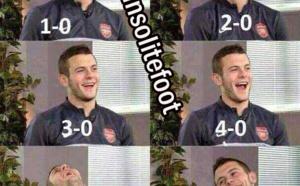 La réaction de Wilshere après la défaite de Tottenham !!!
