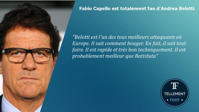 Pour Capello, Belotti est meilleur que Batistuta