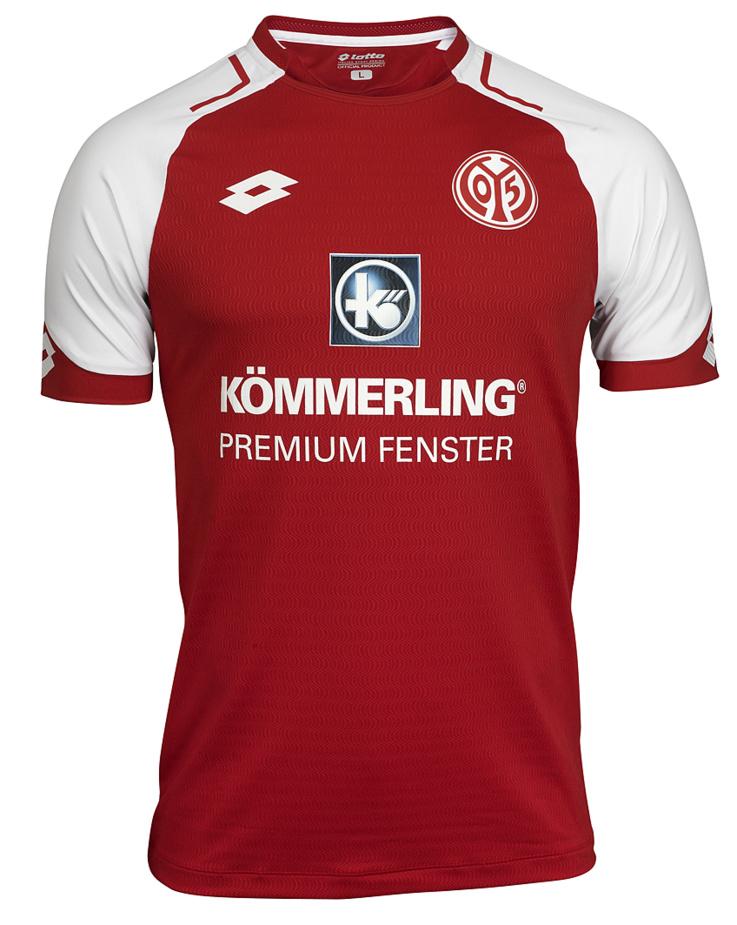 Nouveau maillot Domicile 1.FSV Mainz 05, saison 2017-2018