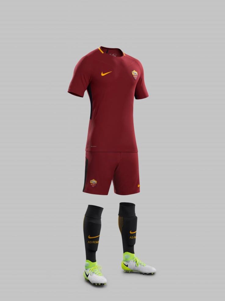 Maillot domicile de l'AS Rome saison 2017-2018