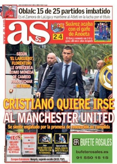 Mercato Real Madrid : le ras le bol de Ronaldo qui prépare son départ pour Manchester United