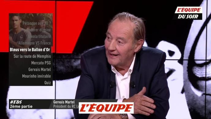 Gervais Martel - Capture écran Equipe su Soir
