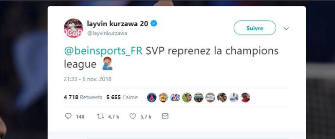 Layvin Kurzawa n'aime pas RMC Sport et le fait comprendre