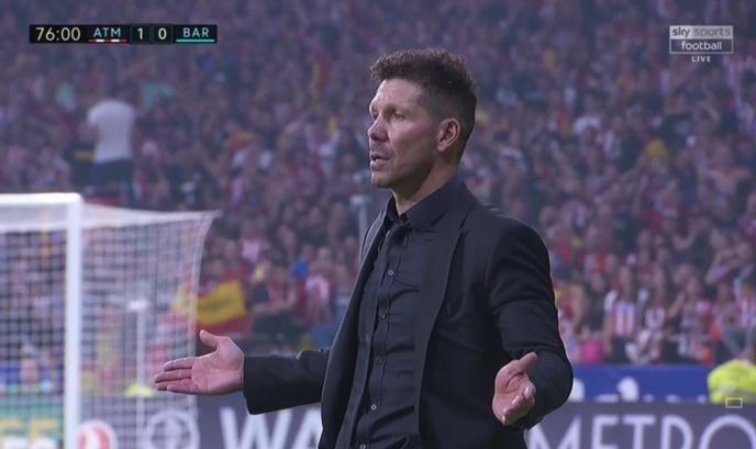 L'entraineur de l'Atlético de Madrid Diego Simeone