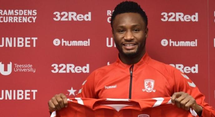 Mercato : John Obi Mikel rejoint Middlesbrough
