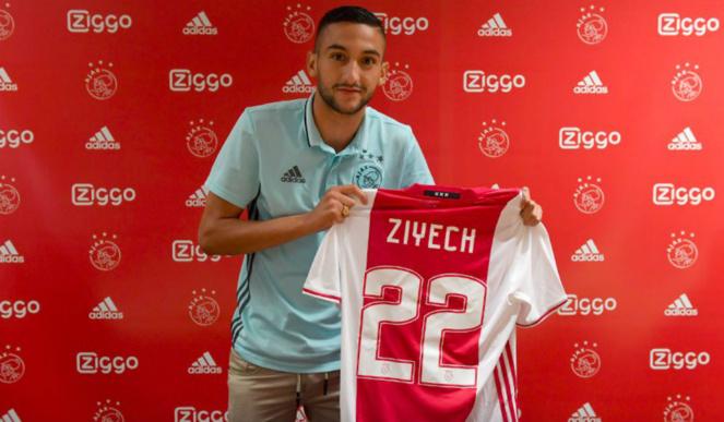 Arsenal, Chelsea : Hakim Ziyech de l' Ajax Amsterdam