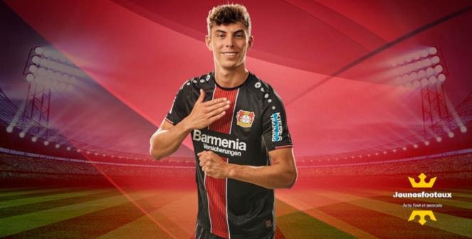 Kai Havertz - milieu offensif international allemand du Bayer Leverkusen