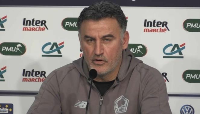 LOSC - PSG : Christophe Galtier, entraîneur de Lille OSC