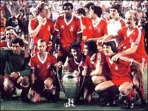 Nottingham Forest après sa victoire en  C1 en 1979