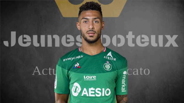 Denis Bouanga, ailier de l'AS Saint-Etienne