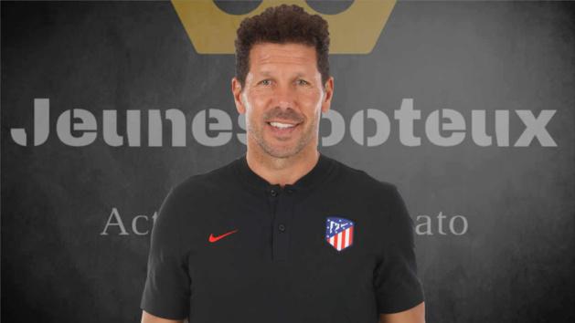 Diego Simeone, entraîneur de l'Atlético de Madrid