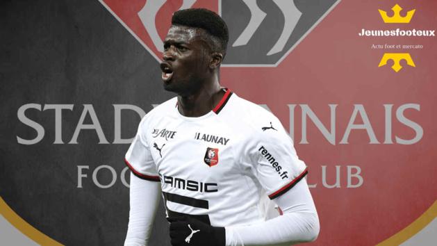 M'Baye Niang, attaquant du Stade Rennais