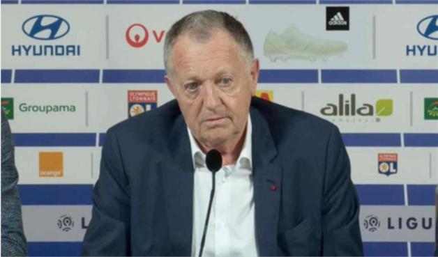 OL Mercato : Aulas (président, Olympique Lyonnais).