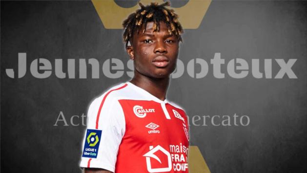 El Bilal Touré, attaquant du Stade de Reims