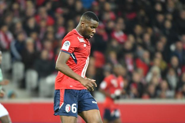 Brest Mercato : Ibrahim Amadou ici sous le maillot du LOSC.