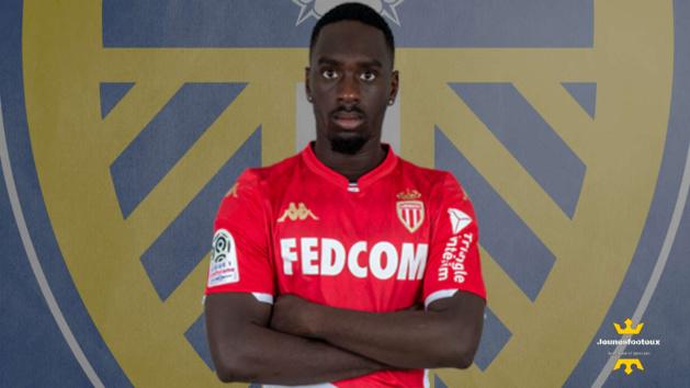 Jean-Kevin Augustin avec le maillot de l'AS Monaco
