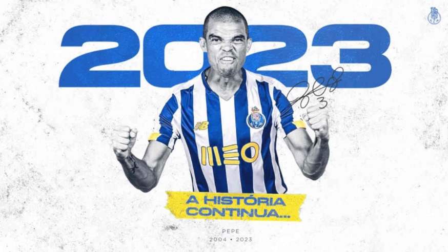Pepe prolonge jusqu'en 2023 au FC Porto