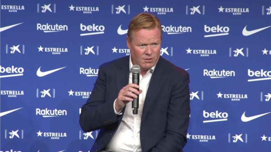 Ronald Koeman, entraîneur du FC Barcelone