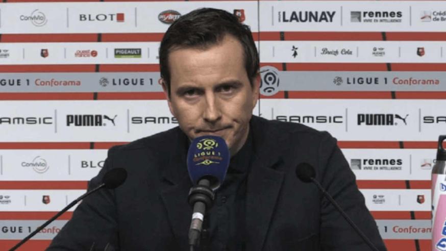 Julien Stéphan en conférence de presse avant Stade Rennais - OM