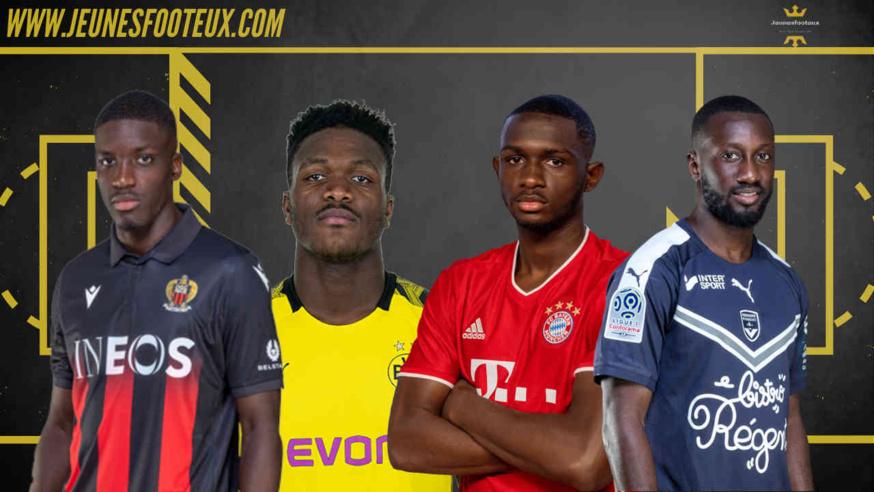 De gauche à droite : Stanley Nsoki, Dan-Axel Zagadou, Tanguy Kouassi, Youssouf Sabaly