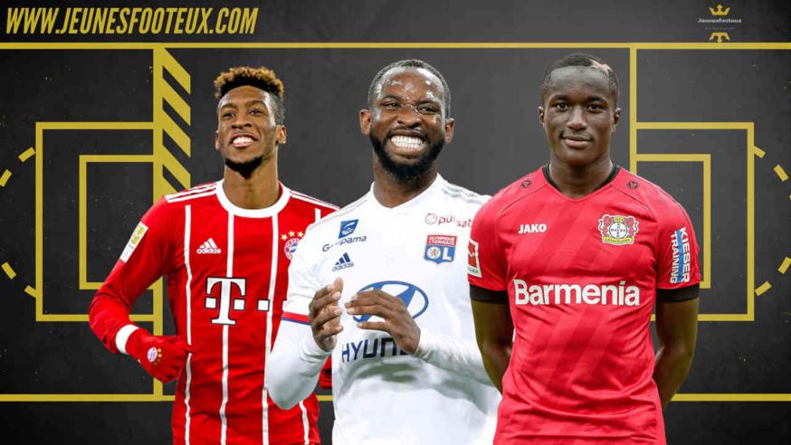 De gauche à droite : Kingsley Coman, Moussa Dembélé et Moussa Diaby