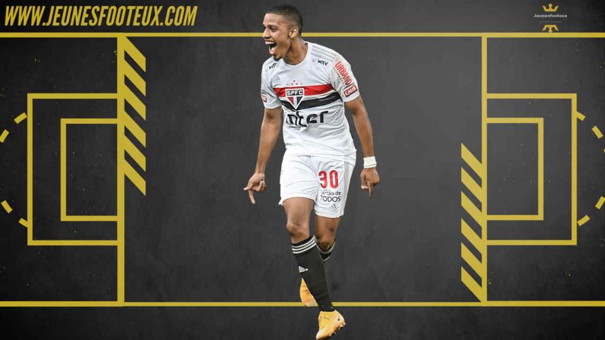 Brenner, avant-centre brésilien de Sao Paulo est sur les radars du PSG, de l'Ajax et du Milan AC