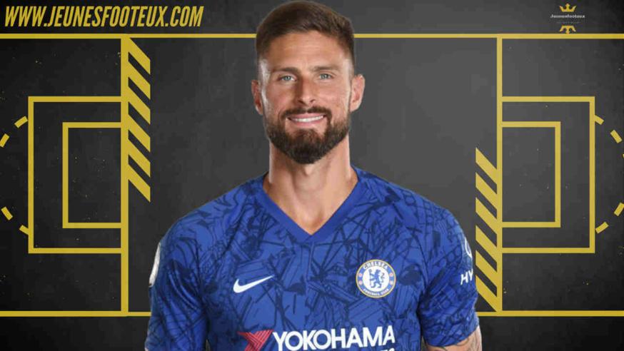 Olivier Giroud, attaquant de Chelsea