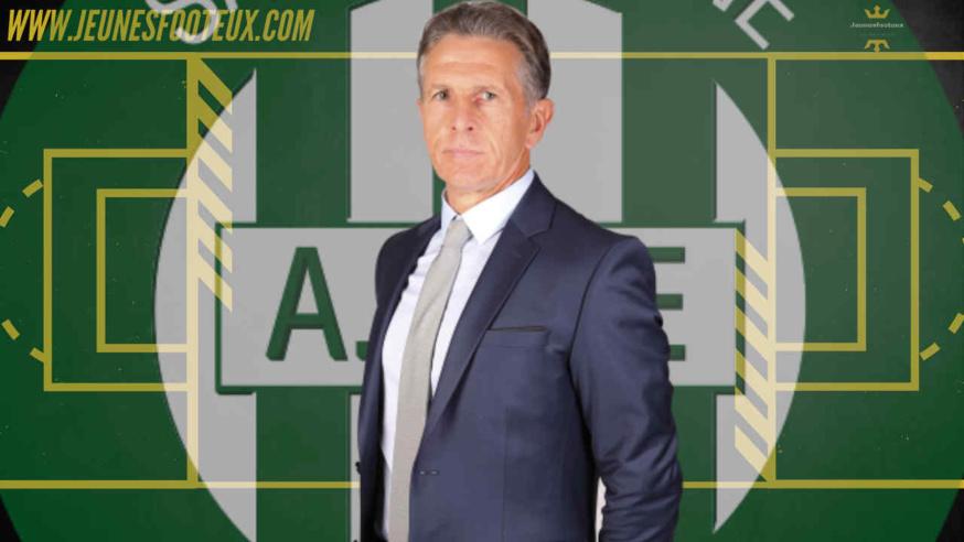Claude Puel, entraîneur de l'AS Saint-Etienne