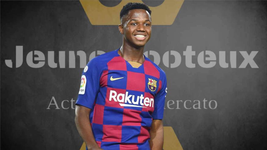 Barça Actu : Ansu Fati (FC Barcelone).