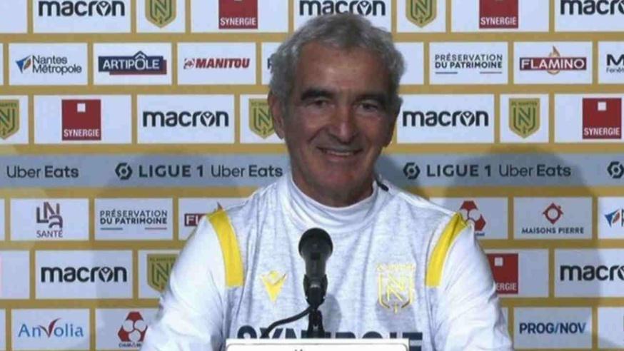 Raymond Domenech, entraineur du FC Nantes