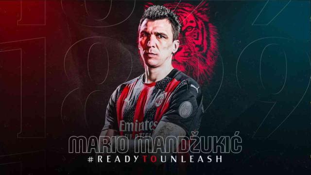 Mario Mandzukic a paraphé un contrat de 6 mois avec une année en option au Milan AC / Photo : Milan AC