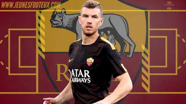 AS Rome : Dzeko de retour à l'entraînement