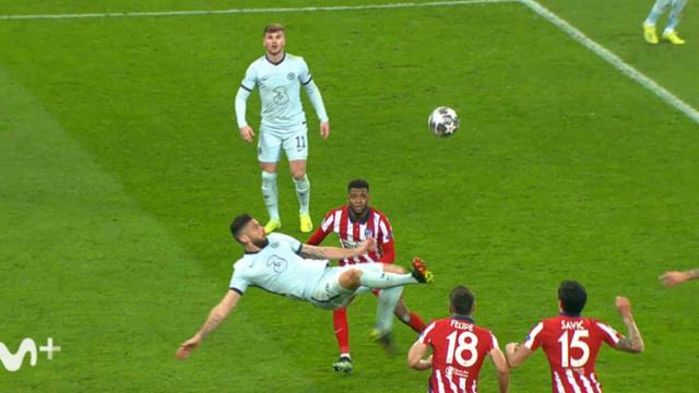 Le retourné acrobatique d'Olivier Giroud lors de Atlético de Madrid - Chelsea