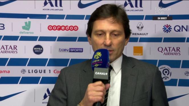 PSG Foot : Leonardo après Paris SG - Barça.
