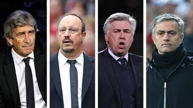 Pellegrini, Benitez, Ancelotti et Mourinho devrait tous changer d'air et de championnat cet été