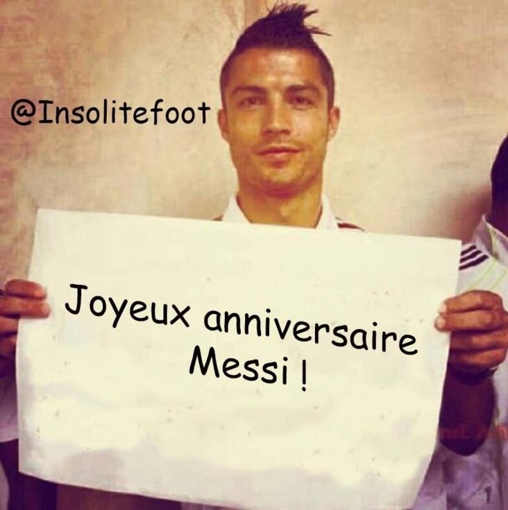 Joyeux Anniversaire Lionel.Ronaldo Souhaite Un Joyeux Anniversaire A Lionel Messi