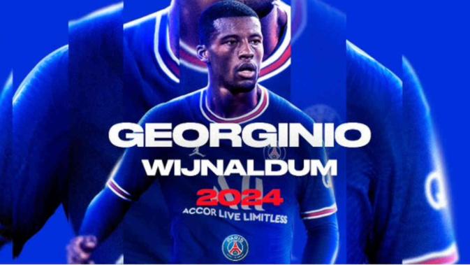 Ligue 1 / PSG - Mercato : Wijnaldum signe au Paris SG, c'est officiel