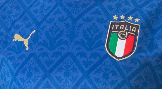 Zoom sur le maillot domicile de l'Italie