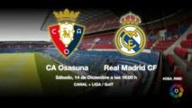 Liga : Le Real Madrid freiné par Osasuna (2-2)