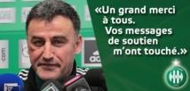 Saint-Etienne : Christophe Galtier remercie les supporters qui l'ont soutenu