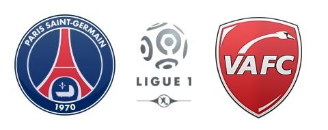 Le groupe de Valenciennes face au PSG
