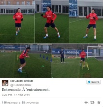 PSG : retour d'Edinson Cavani à l'entrainement