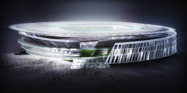 Photo : Première photo du futur Stade de La Roma